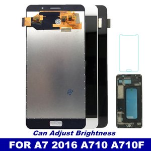 With Frame A710 LCD For Samsung Galaxy A7 2016 A710 A7100 A710F Phone LCD Display Touch Digitizer Screen Assembly Replacement on Sale