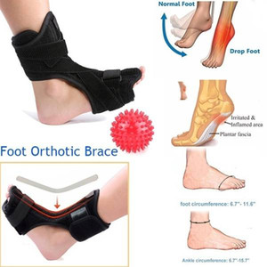 Plantar Fasciitis Foot Splint Night Dorsal Splint Foot Support Arch Orthotic with Massage ball 2018 New Arrival