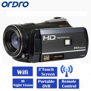 Wholesale ORDRO HDV D395 Full HD P quot Touch LCD Screen Digital Video Camera Recorder Night Vision CMOS Mega Pixels Sensor by dhl