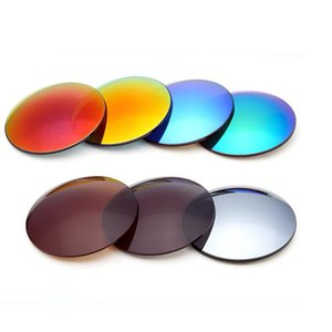 Wholesale 1 single vision mirror colorful eyeglasses lenses Sph Cyl optical sun glasses lens high quality Lens Diameter mm