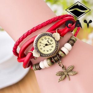 Wholesale Women s Vintage dragonfly ladies bracelet bracelet watches Antique Dragonfly Woman Hand Ring Wrist Watch Birthday Gift