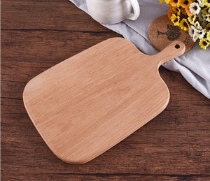 Wholesale Home Wooden Cutting Board Kitchen Chopping Block Wood Cake Sushi Plate Serving Trays Bread Fruit Pizza Tray Baking Tool SN1924