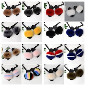 Wholesale Hot Sales Summer Women Fox Fur Slippers Real Fox hair Slides Female Furry Indoor Flip Flops Casual Beach Sandals Fluffy Plush Shoes