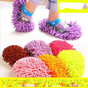 Wholesale Clean Slipper Slacker Shoe Sleeve Floor Scrubbing Ground Lazy Washable Household Cleaning Tool Home Mix Colour zm V