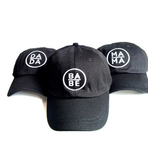 2018 Men's Women's MAMA BABE DADY Hat Embroidery Roded Hats For MenIcon Cap 1 Snapbacks 6 Panel Black Adults Ball Caps Free Shipping