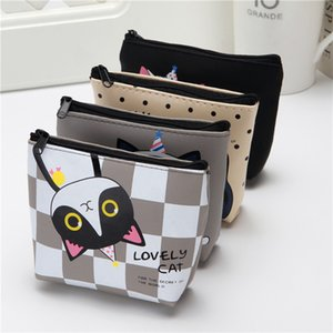 Wholesale Korean cute creative zero wallet kitty silicone key bag cartoon girl student hand small wallet