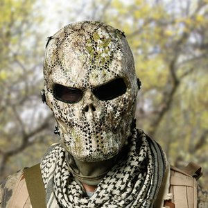 Wholesale 2018 New Halloween Camouflage Masks Ghost Tactical Outdoor Military CS GO Wargame Paintball Motorcycle Skull Full Face Mask