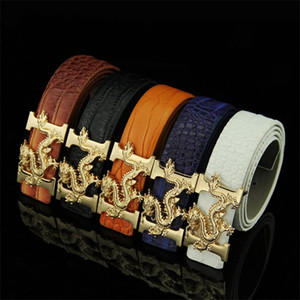 Leisure Man Crocodile Grain Belt Faucet Retrofashion Cintura Ceinture Young Man Business Smooth Buckle Belts Hot Sale 7kn G