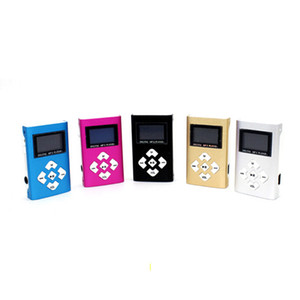 Wholesale Hot marking Mini USB Clip MP3 Player LCD Screen Support 32GB Micro SD TF Card Digital Mp3 players