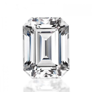 0.2Ct~12.0Ct(2*4MM~12*14MM)Emerald Cut With Certificate D F Color VVS Clarity Test Positive Synthetic Lab Certified Diamond Moissanite Stone
