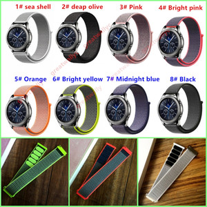 Wholesale Milanese Nylon Loop Watchband mm for Samsung Gear S3 Classic Frontier Xiaomi Amazfit Watch Band Quick Release Strap Sport Belt