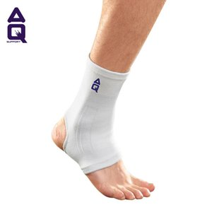 Wholesale Basic type knitting ankle pads White stretch yarns two way knitting comfortable light Simple support Leisure sports keep warm