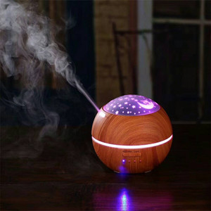 Projection Aroma Essential Oil Diffuser Ultrasonic Cool Mist Humidifier With Star Projection Air Purifier Night light for office home Room