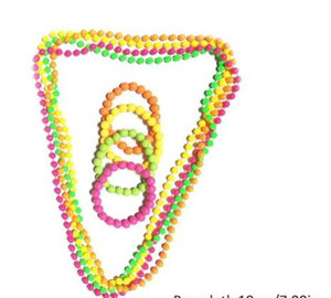 Wholesale XMAS Favors Beaded Necklace for s s Them Prom Party Fluorescent Fancy Dress Neon Beads Necklace Disco Hen Night Props