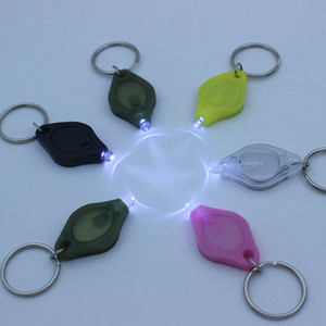 Wholesale Phone Strapes Led Light Key Chain Out door flashlight Mini Torch Keyring White LED UV Bulbs Support Logo Print