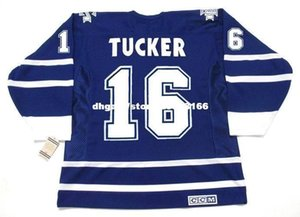 custom embroidery Mens DARCY TUCKER Toronto Maple Leafs 2001 CCM Vintage embroidery Cheap Retro Hockey Jersey on Sale