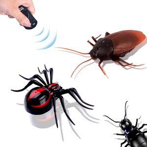 Wholesale Remote Control Line Halloween Toy Remote control cockroach spider ant strange new infrared remote control cockroach toy
