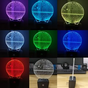 Death Star Mini Wall 3D Illusion Night Lamp Home Decoration Light Light Sensor Multiple Designs Wholesale Dropshipping Free Shipping