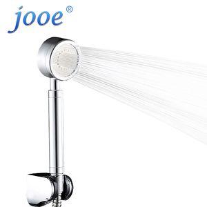 jooe HandHeld Shower Head Water Saving High Pressure Chrome Round hand Bath spa Shower Heads Bathroom Accessories ducha chuveiro