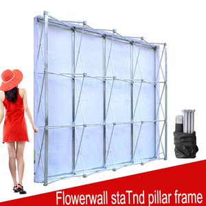 Wholesale Aluminum Flower Wall Folding Stand Frame for Wedding Backdrops Straight Banner Exhibition Display Stand Trade Advertising Show