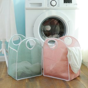 Wholesale Solid Color Hollow Laundry Basket Portable Storage Basket Dirty Cloths Container Children s Toy Basket ZA6610