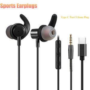 Wholesale Type C Port Earphone With Mic In ear Earbuds mm Plug Wired Earphones with Volume Control HiFi Sports headsets For Xiaomi Note Nu