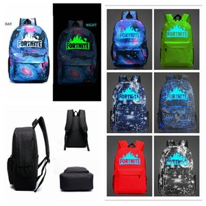 12 Designs 20L Fortnite Battle Royale School Bag Noctilucous Backpack Student Shoulder Bag Luminous Backpacks Outdoor Bags 20pcs on Sale