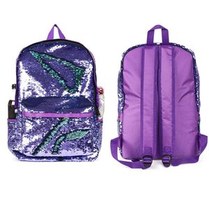 Reversible Sequin Mermaid Backpacks for Girls Unique Glitter Shoulder Bag 2018 Causal Women School Knapsack