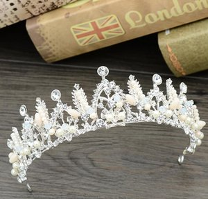 Bridal jewelry, wedding dress, accessories, hoop, crown, hand-made head ornament, crystal hair, new style.