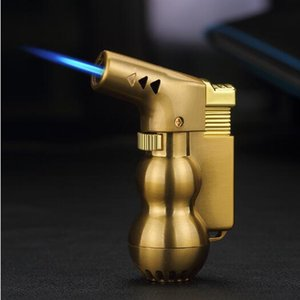Wholesale Butane gas Torch Windproof cigar Lighter kitchen Tool Inflatable Jet FlameTorch portable in pocket best smoking pipe tool
