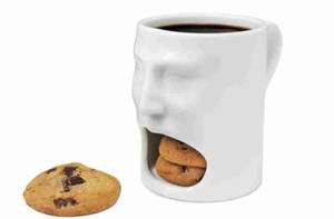 Wholesale coffee mug faces resale online - 175ml Face Mug Ceramic Coffee Cup Side Cookie Biscuit Pocket Holder Milk Juice Lemon Mug Drinkware For Friend Birthday Gift