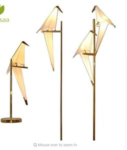 Wholesale Nordic LED Pendant Light Suspension Luminaire Wall Sconces Aisle Paper Crane Shakable Bird Loft Living Room Restaurant Wall Lamp