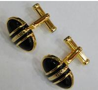 Wholesale New arrival high quality classical business men cuff links black agate stone cufflinks for men gift with box