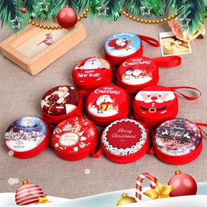 Jewelry Bags Gift Boxes Christmas Tree Old Window Ball Tinplate Coin Purse Christmas Decorations Creative Children Toys 1 58yg gg