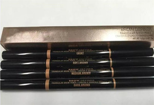 Hot Sell Double Eyebrow pencil BROW PENCIL EBONY Chocolate SOFT BROWN DARK BROWN MEDIUM BROWN