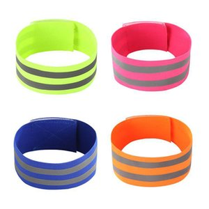 2Pcs Outdoor Sports Elastic Reflective Wristbands Armband Running Walking Cycling Night Safety Arm Ankle Wrist Straps Belts