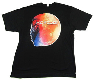 Kid Cudi Man On The Moon End Of Day Album Art Black T Shirt New OfficialCotton Tee Shirts For Men
