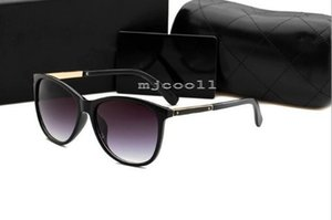 Wholesale Top quality New sunglasses ladies fashion round sunglasses trend street shooting sunglasses With original box