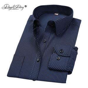 Wholesale DAVYDAISY Hot Sale Cotton Men Shirt Long Sleeved Striped Solid Plaid Male Business Shirt Brand Clothing Formal Shirt Man DS022
