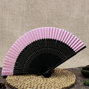 Wholesale Traditional Craft Silk Fabric Fan Chinese Decorative Fans for Weddings Classic Bamboo Folding Fan Women Gift ZA6442