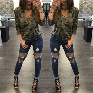 Designer Shirt Women Blouses Camouflage Top Pullover Shirt Ladies Loose Bandege Lace Up Harajuku Tracksuits Female Fashion Women Clothing