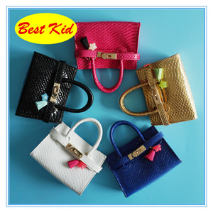 Wholesale princess bags for kids resale online - BestKid DHL Classic Stylish handbags for Childrens Kids Twinkle Totes Baby girls mini brand bags Princess Party bags BK029