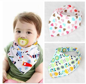 Wholesale Hot selling Styles Cotton Baby Bibs Girls And Boys Towel Bandanas Triangle Scarf Infant Drool Bibs TO503