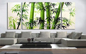 Wholesale MODERN HUGE ABSTRACT CANVAS ART OIL PAINTING bamboo size pc pc inch