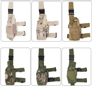 Wholesale Tactical Leg Bag Thigh Molle System Fanny Pack Belt Messenger Waist Belt Hiking Camping Army Water Resistant Bag LJJD21
