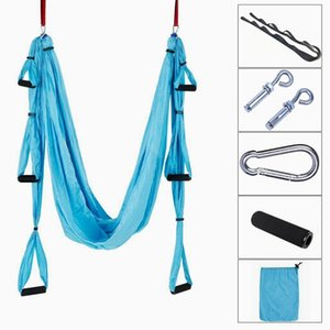 Wholesale Aerial Yoga Swing Ultra Strong Antigravity Yoga Hammock Trapeze Sling for Air Yoga Inversion Exercises Extensions Straps and PDF Guide