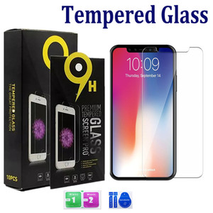 Wholesale For Iphone Pro Max XS Max XR Plus Samsung A10E A20 LG Stylo K40 Tempered Glass Screen Protector mm D H with paper package