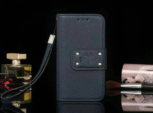 Wholesale Full Protective Brand Leather Wallet Phone Case Cases With Card Slot For Samsung IPhone X Plus Cover Stand High Quality