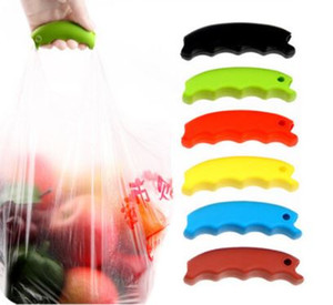 Wholesale Silicone Shopping Bag Basket Carrier Grocery Holder Handle Comfortable Grip Grips Effort Save Body Mechanics Multi Color wn559