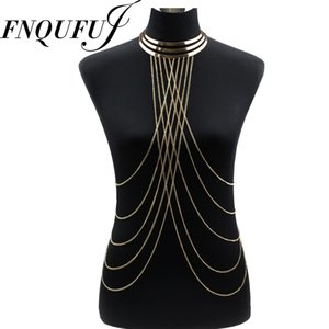 Wholesale Metal Choker necklace Women Necklaces Pendants big Long Necklace Chokers Punk Sexy Statement summer jewelry